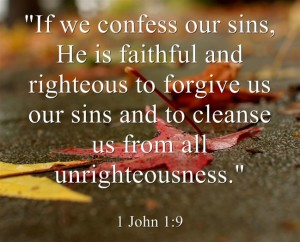 1 john 1 9 if we confess our sin